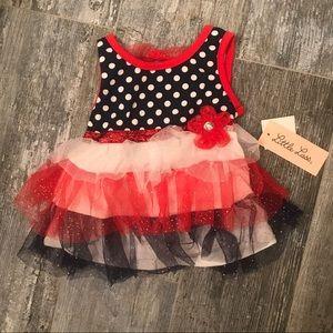 Brand New! Infant dress with sparkly tutu skirt